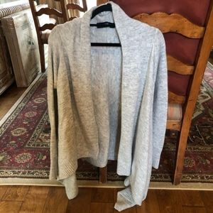 Light gray knit long cardigan